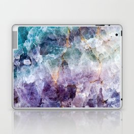 Turquoise & Purple Quartz Crystal Laptop & iPad Skin