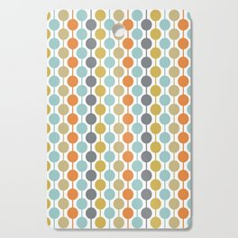 Retro Circles Mid Century Modern Background Cutting Board