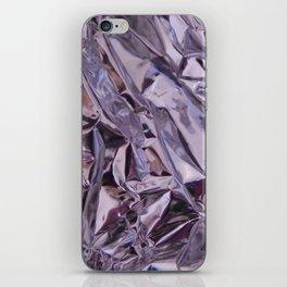 Chrome Folds iPhone Skin
