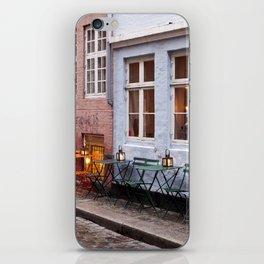 Copenhagen Sidewalk Cafe iPhone Skin