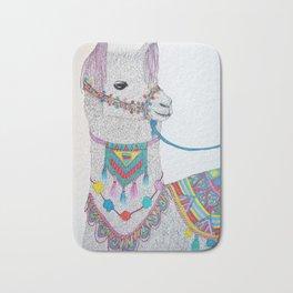 Colorful Llama Bath Mat