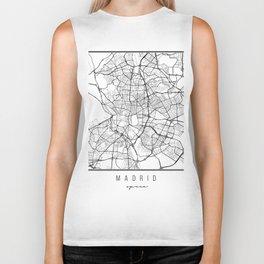 Madrid Spain Street Map Biker Tank