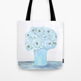 Boho still life flowers in vase Tote Bag