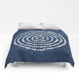 Meditation in Navy Comforters