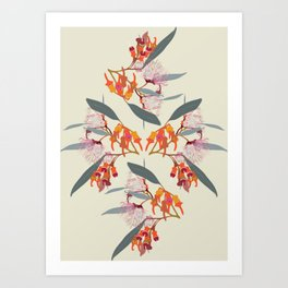 2941-Eucalyptus4-Cream Art Print