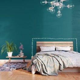 Solid dark turquoise bluish Wallpaper
