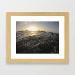 Seal Beach Bodyboarder Framed Art Print
