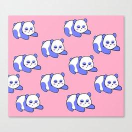 For the sleepy pandas Canvas Print