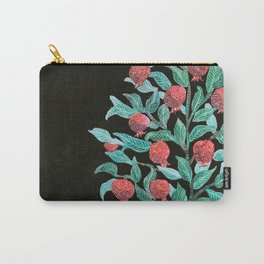 Persephone- Pomegranate Tree on Black Carry-All Pouch