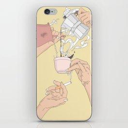 Coffee Hands iPhone Skin