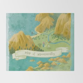 Moominvalley Map Interpretation (1/3) Throw Blanket