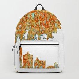 Atlantic City Skyline - Rust Backpack