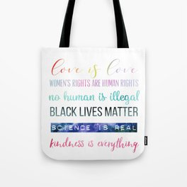In This House We Believe... Resistance Art, Political Art Tote Bag