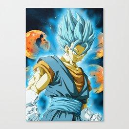 Vegeto Blue Canvas Print