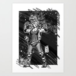 365 Space Wrestlers: Fight King Art Print