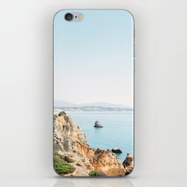 Coast of Lagos, Algarve in Portugal   Bright and airy seascape photography art iPhone Skin