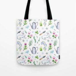 Garden Rabbits Tote Bag