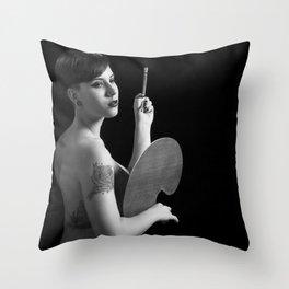 The art of custom corporeal. Throw Pillow