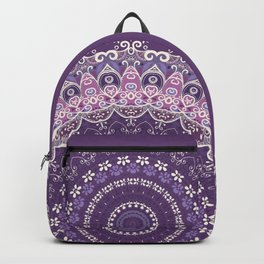 Purple Lace Mandala Backpack