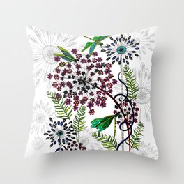 Weeds, Wishes & Dragonfly Kisses Throw Pillow