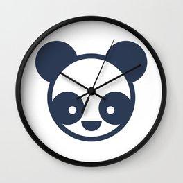 Panda Bear Logo Wall Clock