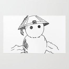 Cute Asian Snowman Rug