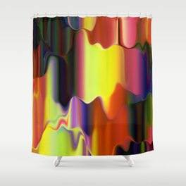 Dripping Paint Shower Curtain