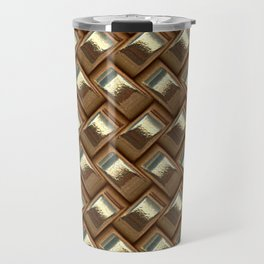 Metal Weave golden Travel Mug