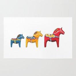 Dala horses Rug