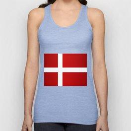 Flag of Denmark Unisex Tank Top