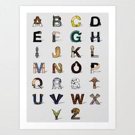 Star W. alphabet Art Print