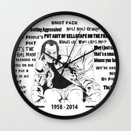 Quotes of Rik Mayall Wall Clock