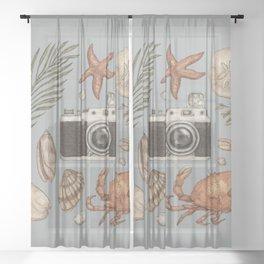 Summer Beach Collection Sheer Curtain