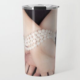 Tied with pearls Travel Mug