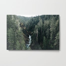 The View From High Steel Metal Print