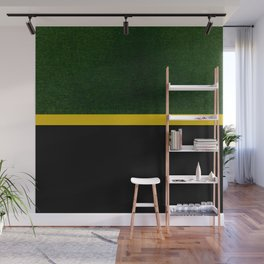 Green, Gold And Black Color Block Wall Mural