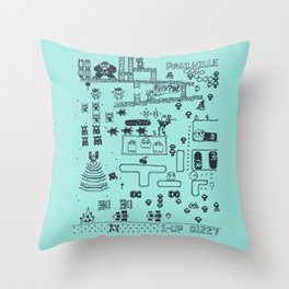 Retro Arcade Mash Up Throw Pillow