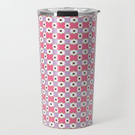 Pink Tiles Travel Mug