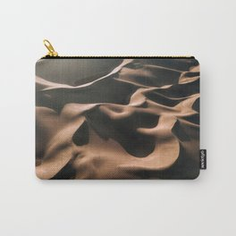 Lovers in the Sand - Aerial Landscape Photography Carry-All Pouch