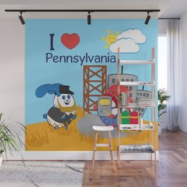 Ernest and Coraline | I love Pennsylvania Wall Mural