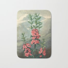 Pink Floral The Narrow-leaved Kalmia : Temple of Flora Bath Mat
