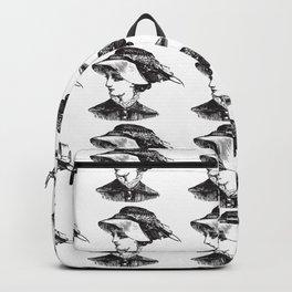 LADY IN HAT Pop Art Backpack