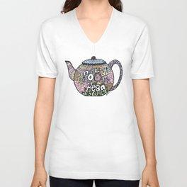 Tea Pot Head Unisex V-Neck