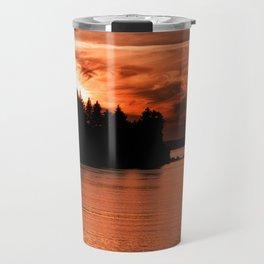 Red Sky At Night Photography Print Travel Mug