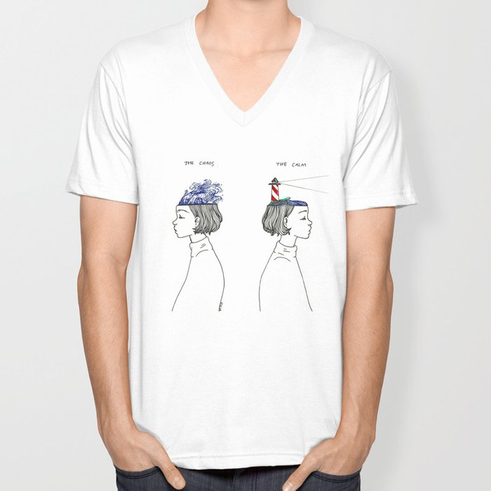 The Chaos and The Calm Unisex V-Neck