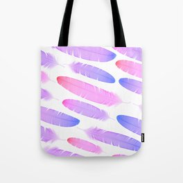 Colorful seamless feather vector pattern Tote Bag