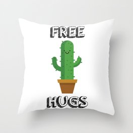 Free Hugs for All! Throw Pillow