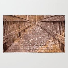 Acrylic Sepia Bridge Rug