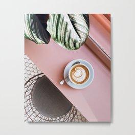 pink latte Metal Print