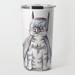Bat Cat Travel Mug